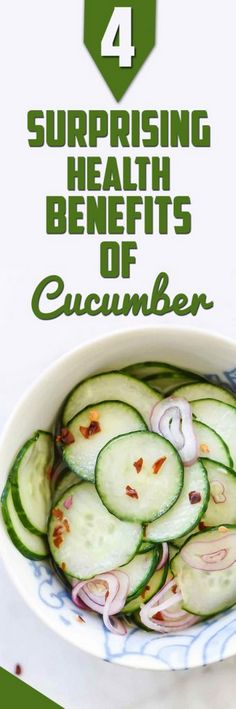 6 Surprising Health Benefits of Cucumber People are beginning to realize the level of impact that the food you consume can have to your health. One of the amazing foods that stand out with so many health benefits is Cucumber.Cucumbers are said to belong to the same family as pumpkin and watermelon and have been noted to render a host of