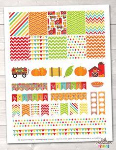 Pumpkin Patch Printable Planner Stickers Weekly Kit