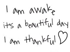 always thankful.
