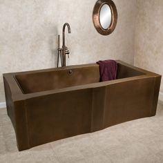 "72"" Carlin Rectangular Copper Freestanding Tub"