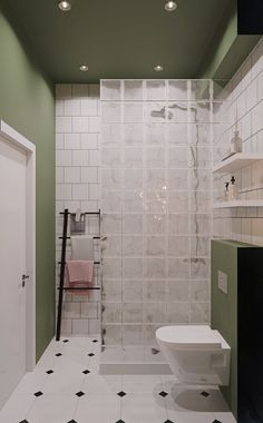 Laundry In Bathroom, Bathroom Wall Decor, Small Bathroom, Modern Bathroom Design, Bathroom Interior Design, Glass Block Shower, Teen Bedroom Designs, Bathroom Design Inspiration, Toilet Design