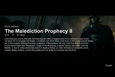 The Malediction Prophecy.  Read it and tremble in awe.