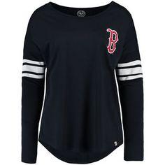 Women's Boston Red Sox '47 Navy Ultra Courtside Long Sleeve T-Shirt