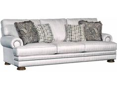 White Leather Sofa The Dump Furniture Outlet CHARLES OF LONDON FEATHER DOWN SOFA New home Pinterest Dump furniture Furniture outlet and Living rooms