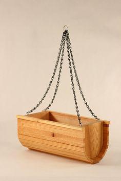 Items similar to Hanging Basket Cedar Planter on Etsy Cedar Planters, Wooden Cutouts, Woodworking Furniture, Hanging Baskets, Wood Pallets, Wood Projects, Decor Ideas, Herbs, Gardening