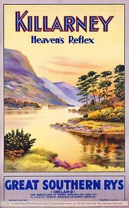 Killarney-Heavens-Gate-Ireland-Irish-Travel-Advertisement-Poster-Picture-Print