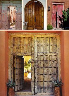 New place in sam antonio. Hacienda Style : MEXICAN DOORS Mexican Antique Doors, Old Mexican Doors, Custom Hacienda Doors