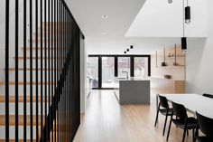 Completed in 2017 in Montreal, Canada. Images by Adrien Williams. A couple with two young children wishes to renovate a row house dating back to the 1970s. Being part of a set of rowhouses designed uniformly, no...