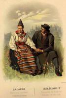 Bilder av Folkdräkter från Dalarna.