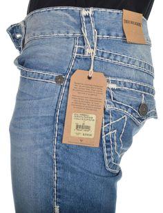 True Religion Mens Jeans Size 30 1/2 Billy W/Flap Super Four River NWT $318 #TrueReligion #BootCut