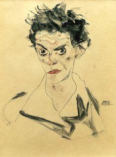 Egon Schiele,  self-portrait (1912)