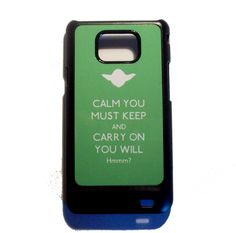 Star Wars Yoda inspired Keep Calm Samsung Galaxy S2 phone case @Mary Hickox