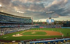 THINK BLUE: Good old Dodger Stadium.  #baseball #losangeles #dodgers #sunset #sky #clouds #photooftheday #picoftheday #igdaily #instadaily by nonface