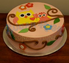 Owl Baby Shower @Elly DesLauriers   This is Collins' tree!! You have to have this cake for your shower! :)