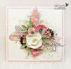 Crafting ideas from Sizzix UK: A pink and green card by Olga