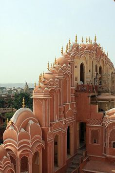 Fabulous Architecture Around the World Pics)- Part The Pink City, Jaipur, Rajasthan, India. Places Around The World, Oh The Places You'll Go, Places To Travel, Places To Visit, Around The Worlds, Beautiful Architecture, Beautiful Buildings, India Architecture, Building Architecture