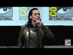 Hiddleston crashes Marvel's Thor panel at SDCC 2013...almost died laughing