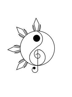 Musique Yin Yang Tattoo Design – Bullet journal – My CMS Mini Drawings, Cute Easy Drawings, Cool Art Drawings, Pencil Art Drawings, Art Drawings Sketches, Doodle Drawings, Tattoo Drawings, Arte Yin Yang, Yin Yang Art