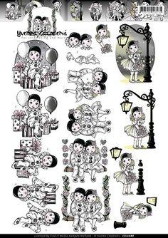 3D Knipvel - Yvonne Creations - Pierrotje