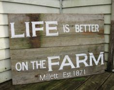 primitive decor painting - life is better on the farm