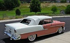 I totally am keen on this design for this chevy convertible 1954 Chevy Bel Air, 1955 Chevy, 1955 Chevrolet, Chevrolet Bel Air, Classic Chevrolet, Vintage Cars, Antique Cars, Teen Driver, Car Man Cave