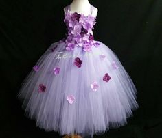 Lavender and Plum  Flower Girl Dress - Lavender/Plum Hydrangea Flowergirl Dress...  ...OTHER COLORS AVAILABLE, Sizes Baby up to Size 12