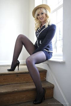 Hot Teacher and Sexy Schoolgirl like Hot Secretary, of St Mackenzies Institute of Learning wearing Nylons, Stockings, Corset, Bustier and High Heels Sissy Boy, In Pantyhose, School Uniform, Corset, Stockings, Boots, Sexy, How To Wear, Beauty