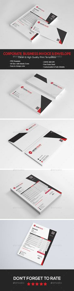 Corporate  Business #Invoice & Envelope - #Proposals & Invoices Stationery Download here:  https://graphicriver.net/item/corporate-business-invoice-envelope/15686421?ref=alena994