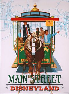 Mainstreet Disneyland - On the landing with the other posters we have.  I wish