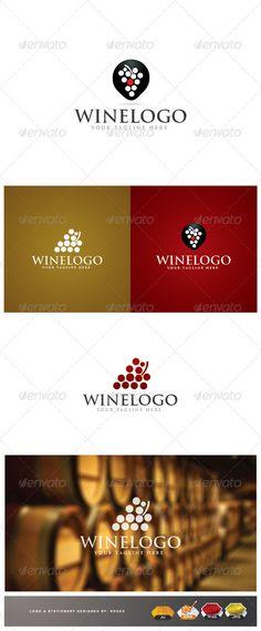 Wine Logo: Food Logo Design Template by rodendushi. Logo Inspiration, Wine Tattoo, Wine Logo, Wine Display, Best Logo Design, Graphic Design, Wine Case, Wine Packaging, Wine Quotes