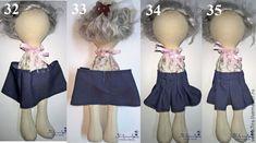 Представляю вашему вниманию серию мастер-классов по пошиву одежды для кукол-большеножек. Обещала 2 года назад, но, как известно, обещанного 3 года ждут, я даже пораньше собралась :) Сегодня выходит первая часть. Будем одевать нашу девочку в комплект одежды из юбочки, блузки и берета. Итак, начнем с блузки. 1. Для начала мы подбираем материал для будущего комплекта.