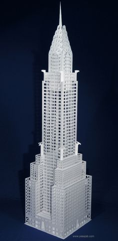 The Chrysler Building. This is soooooo good! It looks just like the real thing. the detail is so amazing. I really love this piece.