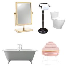 """Wash Room"" by kate-g-newton on Polyvore featuring interior, interiors, interior design, home, home decor, interior decorating, Hamam and Kingston Brass"