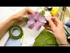 ▬►ВПЕРВЫЕ! Тропический курс: Реалистичные Цветы из ткани своими руками! ✄ https://www.youtube.com/watch?v=WvFj5U0pduw
