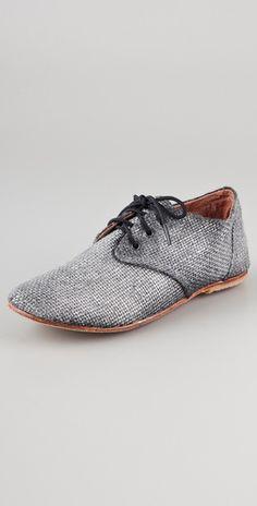 Osborn Silver Metallic Oxfords Zapatos 3e7ef65682f
