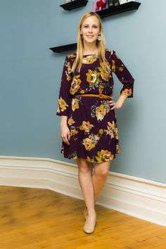 Everly — Emilee Dress- I would love to try this dress! It's purple and floral!!!!!!!!!!!