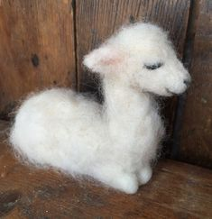 Needle Felted Baby Llama by ClaudiaMarieFelt on Etsy