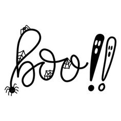 "Silhouette Design Store - Hand Drawn ""Boo!!"" cut file by Dawn Nicole Designs"