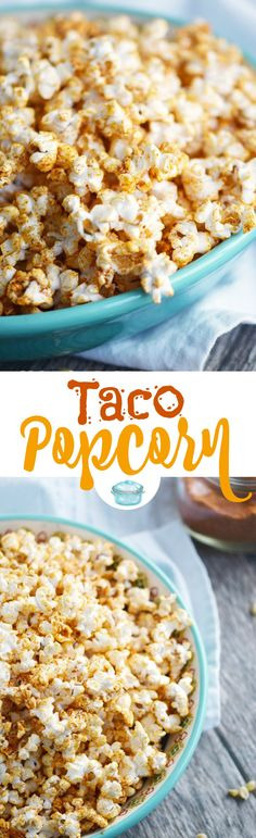 Taco Popcorn is a savory snack that your party guests and family will love! It's tangy and slightly spicy flavor is always a crowd pleaser. © COOKING WITH CURLS
