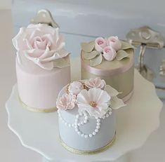 Gorgeous Cakes, Pretty Cakes, Cute Cakes, Mini Wedding Cakes, Mini Cakes, Fondant Cakes, Cupcake Cakes, Elegant Cake Pops, Cotton And Crumbs