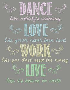 Dance like nobody's watching... {free printable}