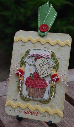 jar with cupcake