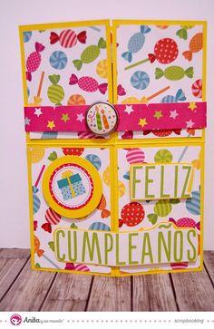 tarjetas pop up cumpleaños - Búsqueda de Google Tarjetas Pop Up, 1st Birthdays, Origami, Birthday Cards, Frame, Scrapbooking, Google, Happy Birthday Cards, Creative Cards