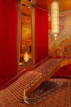 Stairway at Radio City Music Hall ~ NYC
