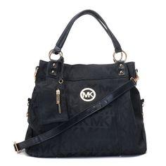 Michael Kors Classic Totes Apricot Black Handbags MK0048