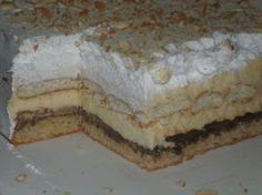 Nutella torta - Potrebno je: 300 gr seckanih oraha 8 jaja 200 gr kristal šećera 4 kašike prezle 4 kašike mekog brašna 4 kašike ulja 400 gr krema Nutela 1 litar mleka 130 g