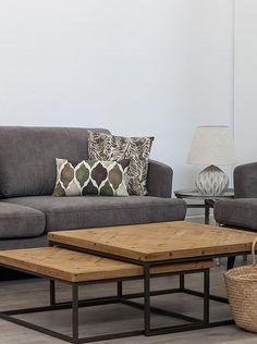 HOME FURNITURE Mesa 2 Piezas Negro/Natural en Amazon BuyVIP Living Room Decor Furniture, Home Furniture, Furniture Design, Condo Living, Home Living Room, Indian Living Rooms, Indian Home Decor, Wood Table, Sweet Home
