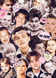 young leonardo dicaprio tumblr collage - Google Search