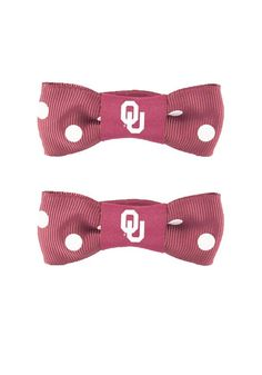 Oklahoma Sooners Polka Dot Bow Pigtail Holders http://www.rallyhouse.com/shop/oklahoma-sooners-oklahoma-sooners-polka-dot-bow-pigtail-holders-104235 $5.99