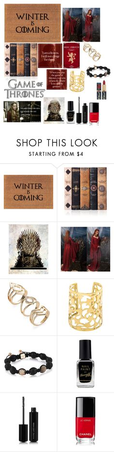 """""""Game of Thrones- Cersei Lannister"""" by giulia-ostara-re ❤ liked on Polyvore featuring Barry M, Marc Jacobs and Chanel"""